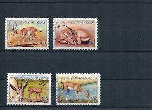 1987 WWF LIBYA Slender-horned Gazelle 4V MNH POST FREE