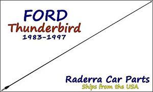 "1983-1997 Ford Thunderbird - 32"" Black Stainless AM FM Antenna Mast"