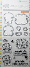 MAMA ELEPHANT Stamp & Die Set LOVEY PUPPY Cardmaking Craft Scrapbooking Media