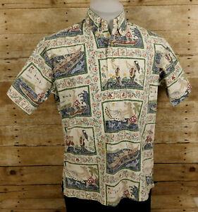 Reyn Spooner Mele Kalikimaka Hawaiian Pullover Shirt Mens Small Christmas