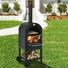 Pizza Oven Wood Fire Pizza Maker Grill With Pizza Stone Amp Waterproof Cover New