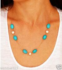 Boho Bohemian Jewelry Chain Crystal Choker Chunky Statement Bib Necklace Pendant
