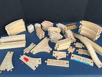 Assorted Parts & Pieces Wooden TRAIN Tracks Brio Thomas Compatible