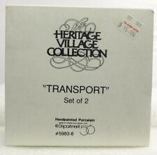 "Dept 56 ""New"" Heritage Village Series Transport Set Of Two"