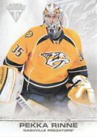 2011-12 Panini Titanium Hockey #97 Pekka Rinne Nashville Predators