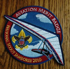 2010 Boy Scouts National Jamboree Aviation Merit Badge Hang Glider  Patch