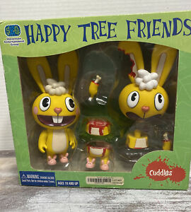 HAPPY TREE FRIENDS *Cuddles* NEW IN BOX* 2004 Action Figure SET! *RARE*