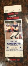 1991 Dallas Cowboys vs Atlanta Falcons Ticket Stub Troy Aikman 12/22