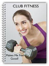 A5 LADIES STANDARD FITNESS WEIGHT TRAINING LOG BOOK/GYM/WORKOUT LOG WEIGHT 01