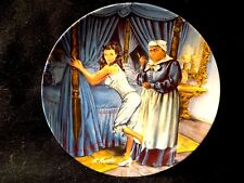 """GONE WITH THE WIND VINTAGE COLLECTOR PLATE """"MAMMY LACING SCARLET"""" 5th ISSUE 1980"""