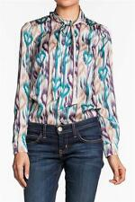 Love Moschino Long Sleeve Blouse Multi women's teal purple NEW Designer