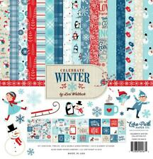 Echo Park CELEBRATE WINTER 12x12 Collection Kit Snow Scrapbook Planner