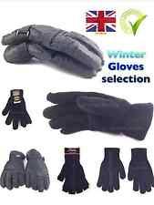 Thermal gloves Thinsulate Fleece fingerless Ski gripper black magic glove unisex