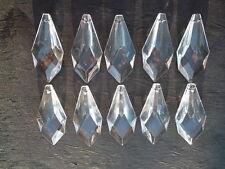 10 pretty small  glass spear chandelier drops (D686)