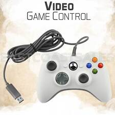 White USB Video Game Pad Remote Controller for Xbox 360 System PC Windows