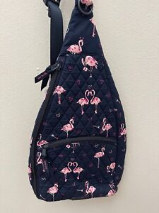 Vera Bradley Essential Sling Crossbody Backpack in Flirty Flamingos NWT MSRP $69