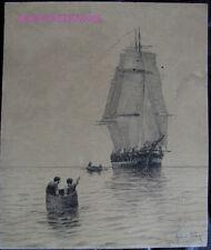 DESSIN ORIGINAL ALFRED PARIS - illustration livre Voyages de Louis Garneray #2