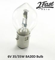 6V 35/35W J Base BA20D Headlight Dual Filament Honda Motorcycle ATV Scooter Quad