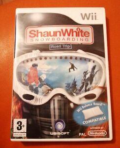 NINTENDO WII GAME SHAUN WHITE SNOWBOARDING ROAD TRIP BALANCE BOARD COMPATIBLE
