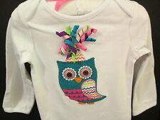 Mud Pie First Birthday Owl Crawler w/Hair Clip Birthday, Size 9-12 Months, NWT