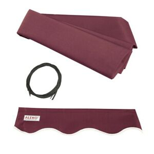 ALEKO Fabric Replacement For 12x10 Ft Retractable Awning Burgundy Color