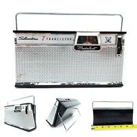 Needs Repair Vintage Silvertone Medalist Model 2209 7 Transistor Radio Portable