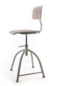 Alter Chair Old Vintage Work Chair Workshop Metal Wood Architect