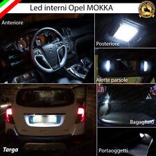 KIT LED INTERNI OPEL MOKKA CONVERSIONE COMPLETA + LED TARGA CANBUS 6000K BIANCO