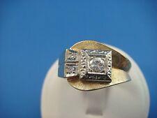 VINTAGE 14K GOLD 0.30 CT MEN'S DIAMOND RING, 7.7 GRAMS, SIZE 9, CIRCA 1945-1950