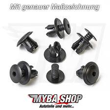 10x TÜRVERKLEIDUNG CLIPS KLIPS VW TRANSPORTER T4 & T5 SCHWARZ 70186729901C