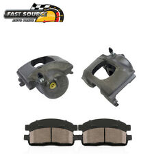 Front Brake Calipers Pair + Ceramic Pads For 1983 - 1992 1993 1994 Ford Ranger
