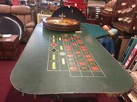 "1920's Casino Roulette  w Mason Wheel and Table With Travel Case ""Watch Video"""