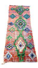 Nice Carpet Rug HallwayTribal Berber Cotton Boucherouit Area Hand knotted 6'X2.5
