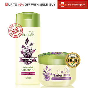 Master Herb Anti- Grey Hair Shampoo & Balm - Cream For Damaged Hair, 2pcs Set