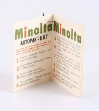 MINOLTA AUTOPAK 8 K7 FACTORY TAG/130530