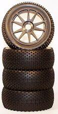 1/8 Racing Spike Black Spoke Pre-Mounted 1/8 Buggy Tires Glued