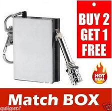 Magnesium Flint Fire Starter Matchbox Survival Emergency Camping Lighter- F3