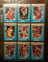 1990 FLEER '90 ALL-STARS COMPLETE CARD SET #1-12