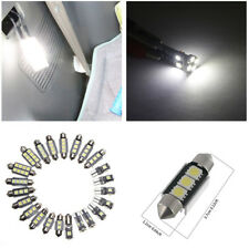 23Pcs Car Map Dome Footwell License Plate Led Chip White Color Interior Lights