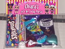 12  x LOL Surprise Doll Design Birthday Party Lolly / Loot Bags - Any name & age