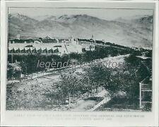 1859 Brigham Young Lion House in Salt Lake City Utah Original News Service Photo