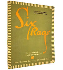 Six Rags for the Piano Fred Heltman 1912 Sheet Music Song Book Antique Vtg Rare
