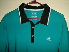 Adidas Climacool Mens sz Large S/S Golf Polo Lightweight Shirt (23.5x30)