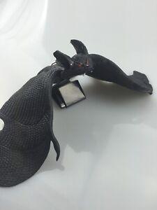 6 Black Rubber Bats In Net Bag approx 13cm
