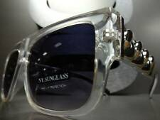 CLASSIC RETRO VINTAGE HIP HOP RAPPER SUN GLASSES Silver or Gold Thick Chain Link