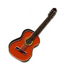 Klassische Gitarre Musik Konzert Guitar Badge Metall Button Pin Anstecker 0068