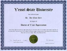 Doctor Vase Appreciation Novelty Diploma Crystal Flower