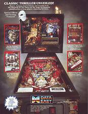 Phantom Of The Opera Pinball Machine Flyer NOS 1990 Horror Halloween Data East