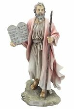 "9.75"" Moses Statue Biblical Figurine Religious Sculpture Decor 10 Commandments"
