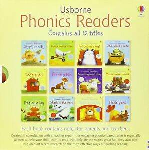 Usborne Phonics Readers 12 Books Collection Box Set Gift Pack Childrens Reading